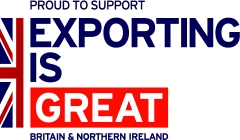 Proud To Support EXPORTING Is GREAT Logo240x140px